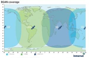 Диаграмма направленности спутников Инмарсат